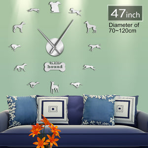 Love Of Greyhounds Wall Clock