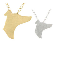 Greyhound Silhouette Necklace