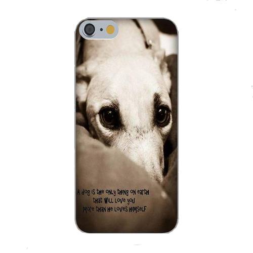 Sepia-Tone Greyhound Silicone iPhone Cover