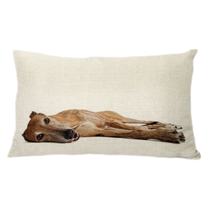 Laying Greyhound Throw Pillow Cover - 20 x 12 inch