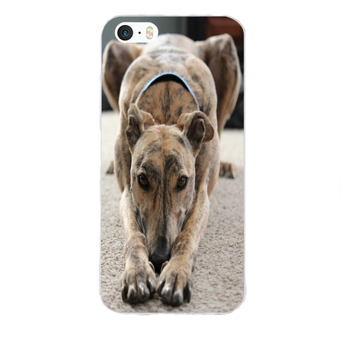 Playful Greyhound Silicone iPhone Cover