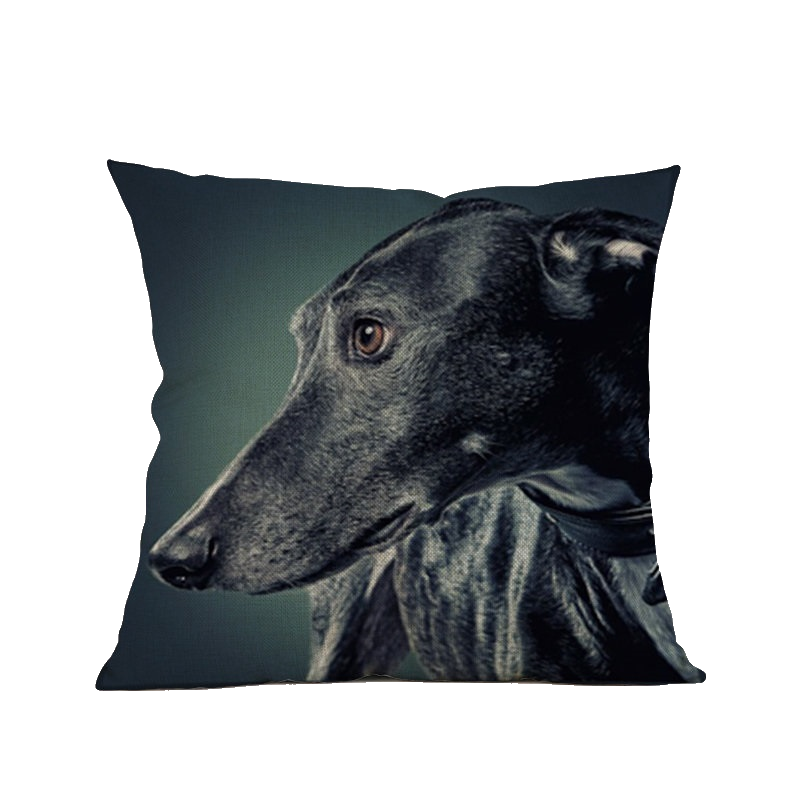 3 SIZES - Greyhound Throw Pillow Cover Design 1