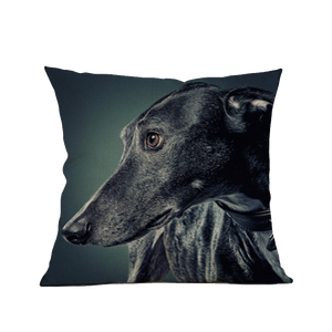 3 SIZES - Greyhound Throw Pillow Design 1