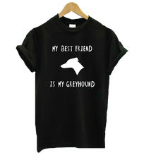Greyhound Best Friend T-Shirt in Black