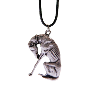 Praying Greyhound Necklace