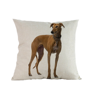 3 SIZES - Greyhound Throw Pillow Design 3