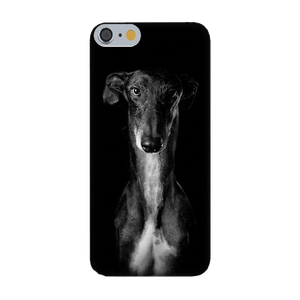 Greyhound Silicone iPhone Cover With Black and White Photo
