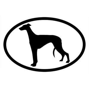 Black Greyhound Decal