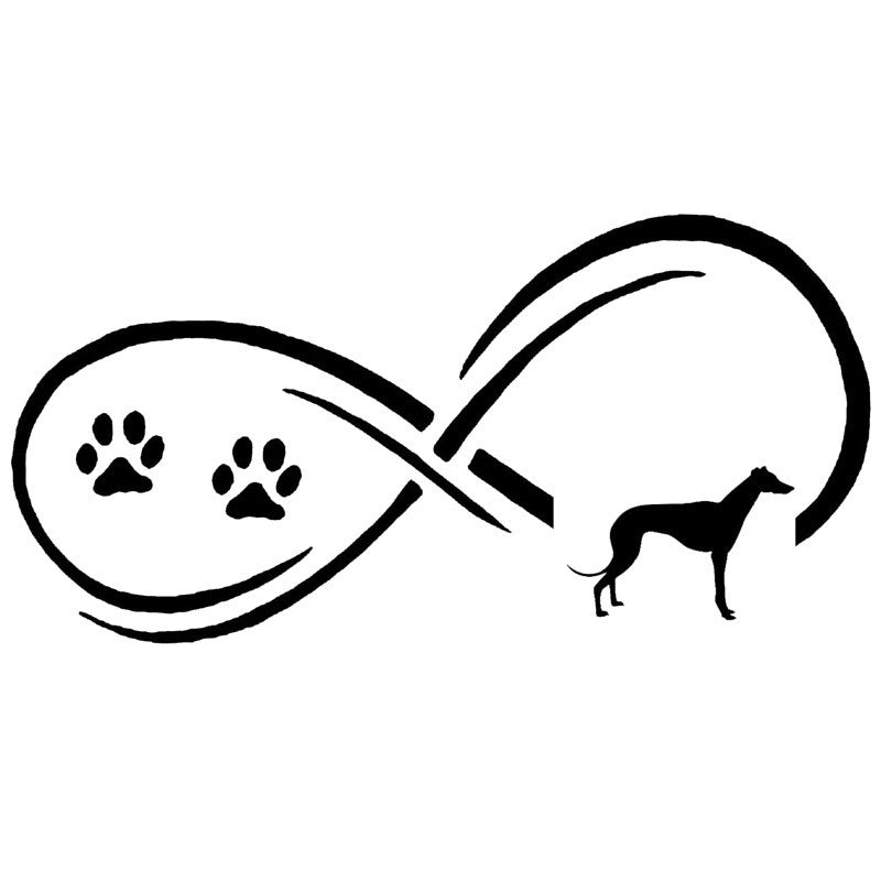 Black Infinity Love Of Greyhounds Decal