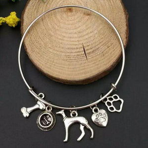 Antiqued Greyhound Charm Bracelet
