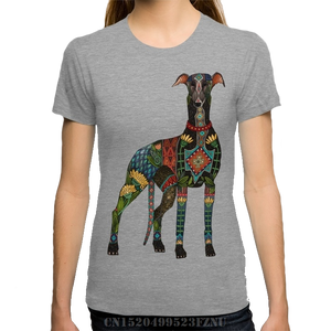 Colorful Greyhound T-Shirt in Grey