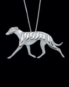 Medium Trotting Greyhound Necklace