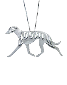 Trotting Greyhound Necklace