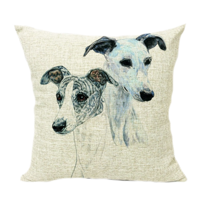 Two Greyhounds Throw Pillow Cover