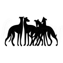 Greyhounds Hanging Out Decal
