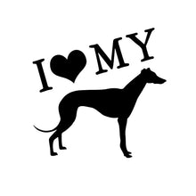 I Love My Greyhound Decal in Black