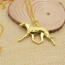 Large Trotting Greyhound Necklace