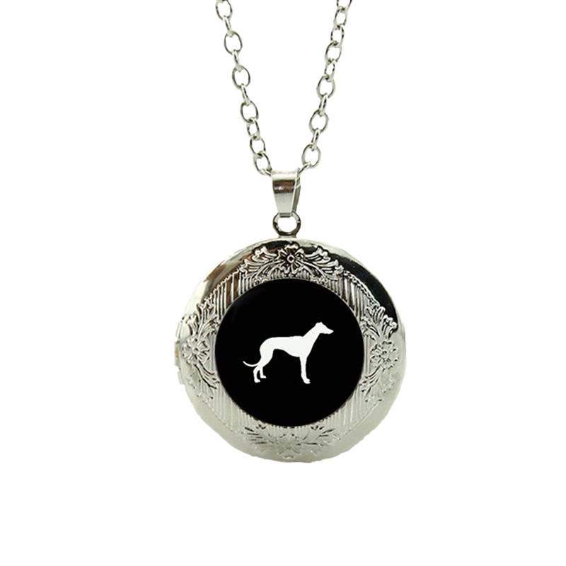 Love Of Greyhounds Locket Pendant Necklace