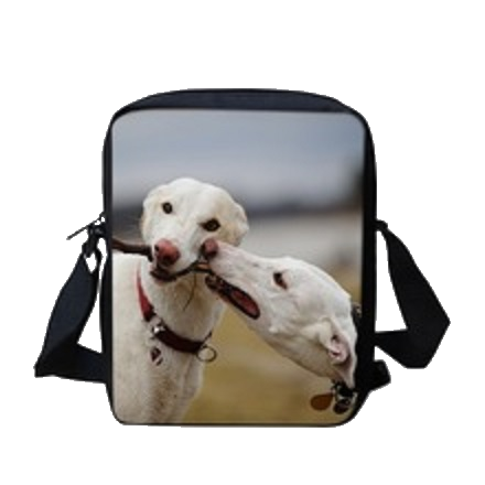White Greyhounds Crossbody Messenger Bag