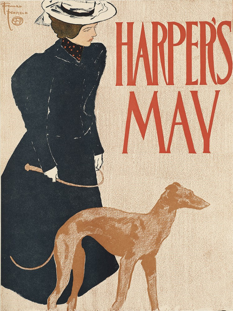 Harper's May Vintage Print On Canvas