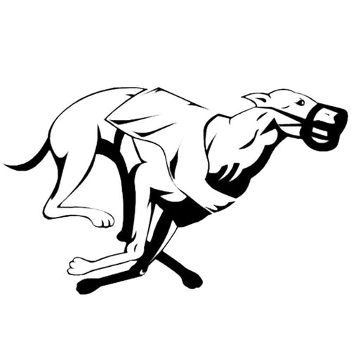 Black Racing Greyhound Decal
