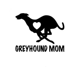 Black Greyhound Mom Decal