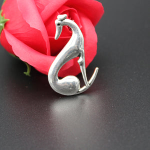 Sitting Greyhound Necklace