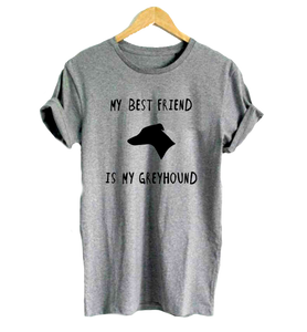 Greyhound Best Friend T-Shirt in Grey