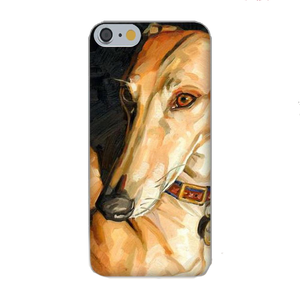 Greyhound Silicon Painting iPhone Case