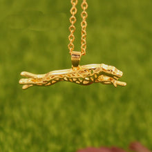 Large Running Greyhound Necklace
