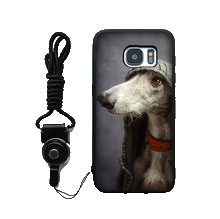 Greyhound Silicone iPhone Cover With Lanyard 4