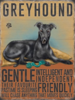 Vintage Greyhound Metal Plaque