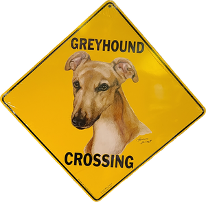 "12"" x 12""  Metal Greyhound Crossing Sign"