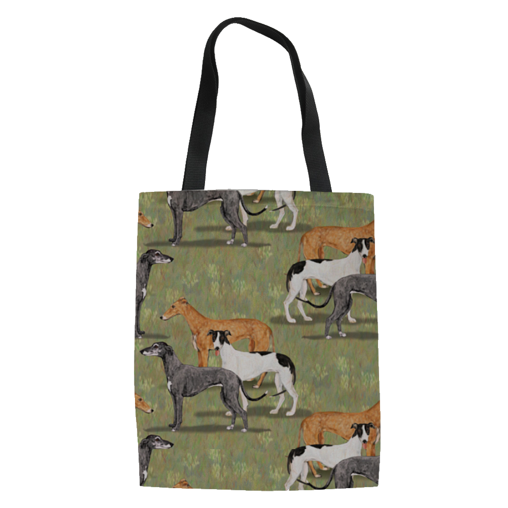 Greyhounds On Lawn Tote