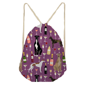 Greyhound Party 1 Drawstring Bag
