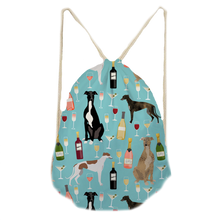 Greyhound Party 2 Drawstring Bag