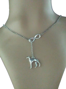 Infinity Greyhound Necklace