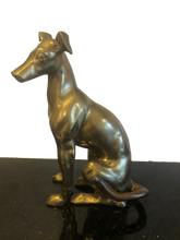"Large 10"" Brass Greyhound"