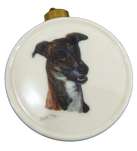 Greyhound Ornament Fine Porcelain Signed Robert May