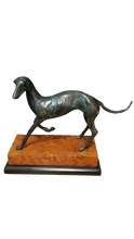 Vintage Brass Greyhound Sculpture