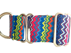 Blue Cool Chevron Martingale Collar