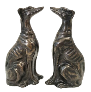 OVERSTOCK - Set of 2 - PJ Mene Bronze Dog Greyhound Sculpture