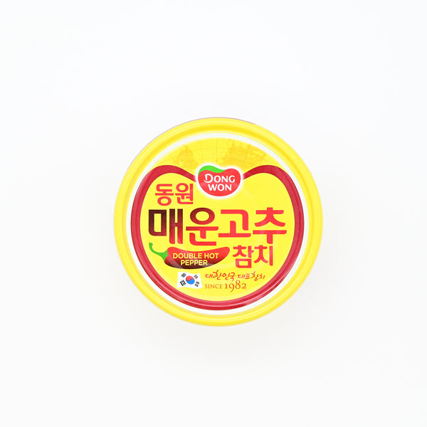 동원 매운 고추 참치 캔 - TUNA WITH DOUBLE HOT PEPPER SAUCE (150G)