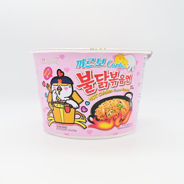 삼양 까르보 불닭 볶음면 큰컵 - SAMYANG SPICY HOT CHICKEN CARBO FLAVOR RAMEN BIG BOWL (105g)