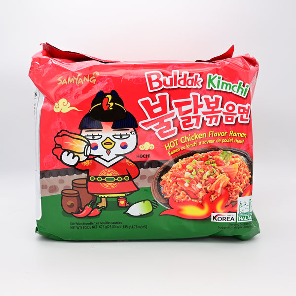 삼양 불닭볶음 김치 라면 - SAMYANG SPICY HOT CHICKEN KIMCHI FLAVOR RAMEN (5 PACKS)