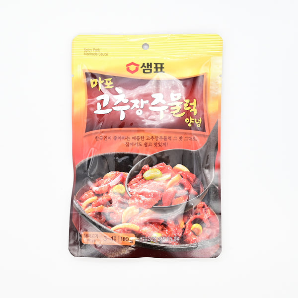 샘표 마포 고추장 주물럭 양념 - Korean Spicy Pork Marinade Sauce (3~4servings)