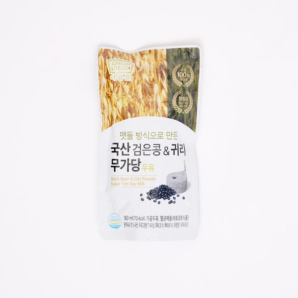 국산 검은콩 & 귀리 무가당 두유 - BLACK BEAN AND OAT POWDER SUGAR FREE SOY MILK (180 ML)