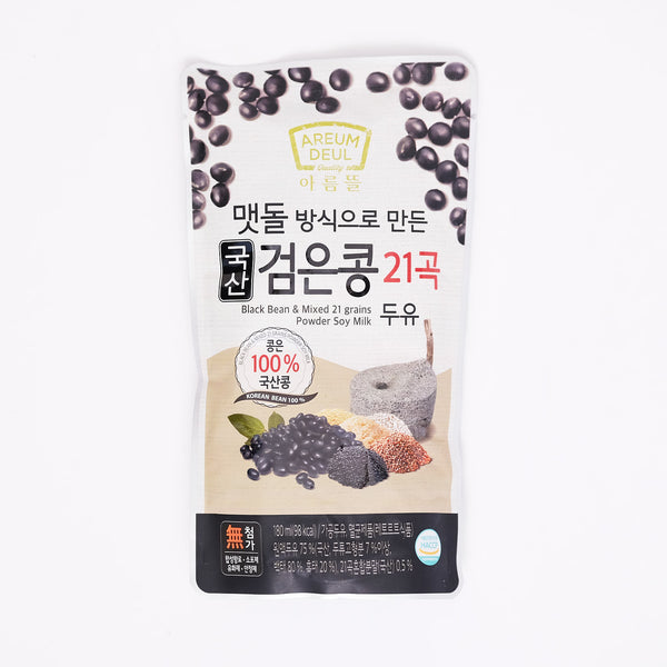 국산 검은콩 21곡 두유 - BLACK BEAN & MIXED 21 GRAINS SOY MILK (180 ML)