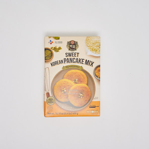 백설 녹차맛 호떡믹스 - SWEET KOREAN GREEN TEA FLAVOR PANCAKE MIX (14.10 OZ)