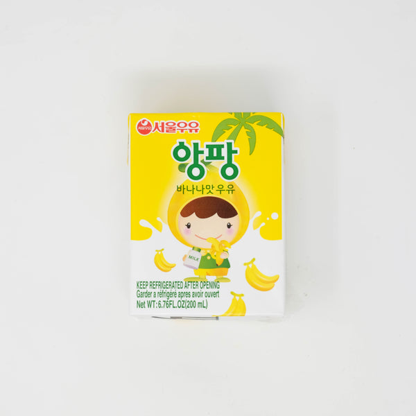 서울 우유 앙팡 바나나맛 우유 - SEOUL MILK ENFANT BANANA FLAVOR MILK (6.76 oz X 6 packs)